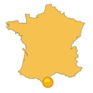 Au sud de la France dans les Pyrénées Orientales et au Sud du Massif du Canigou