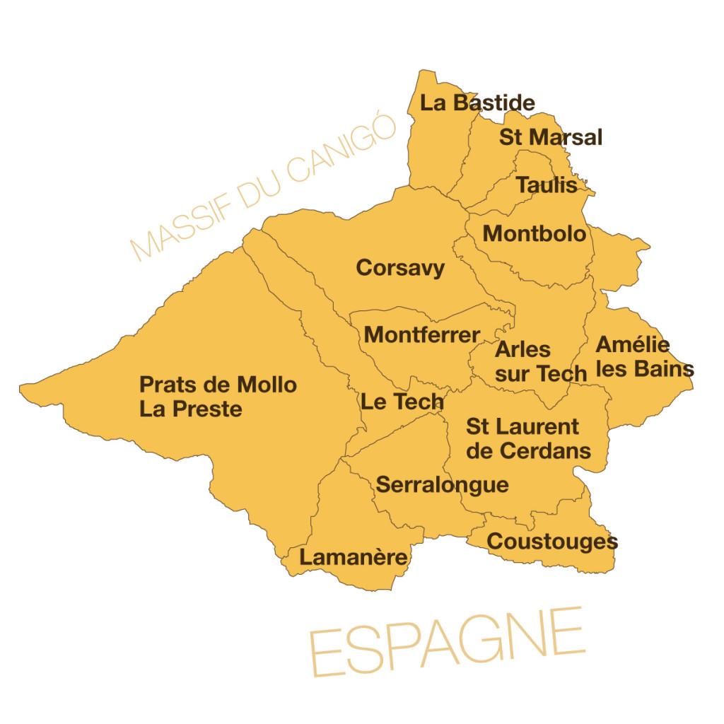 Carte du Sud Canigo